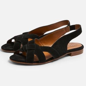 TOPSHOP Orchid Leather Sandal